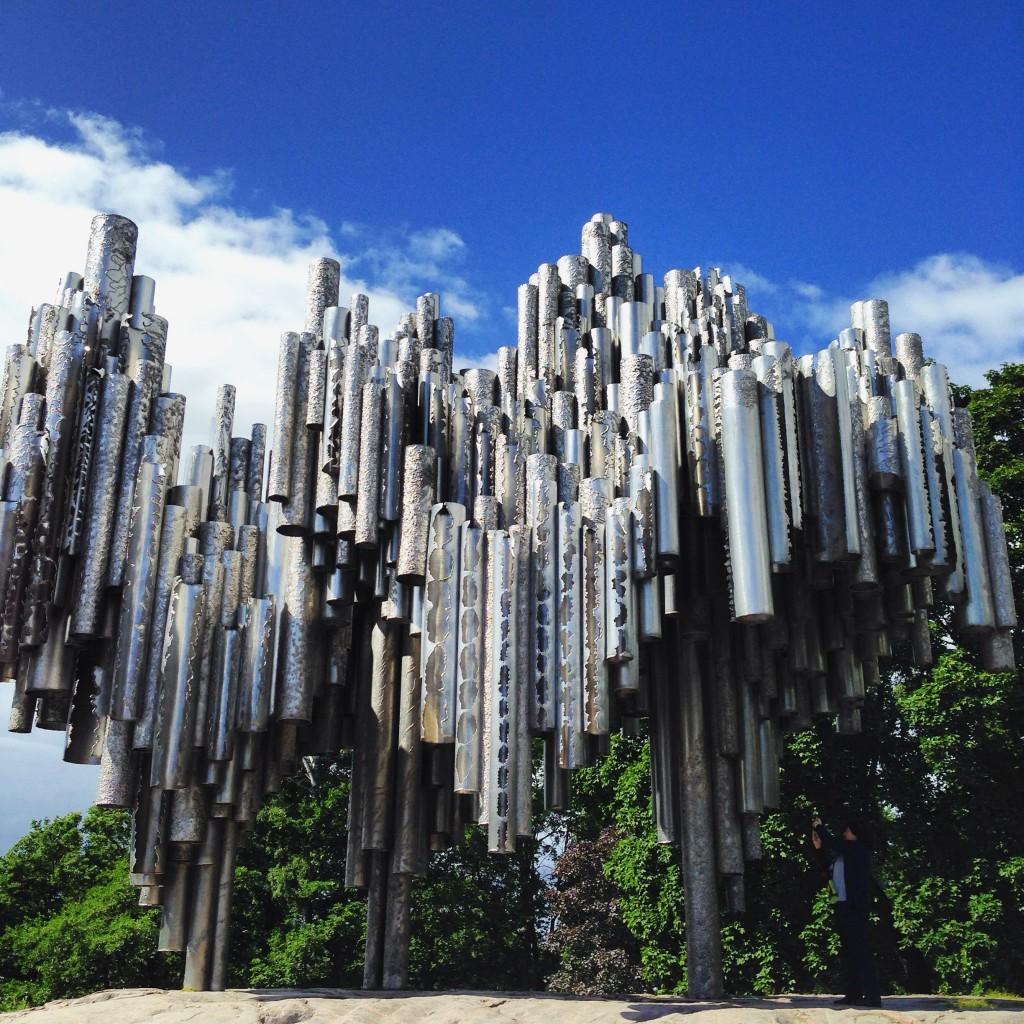 Le monument Sibelius à Helsinki