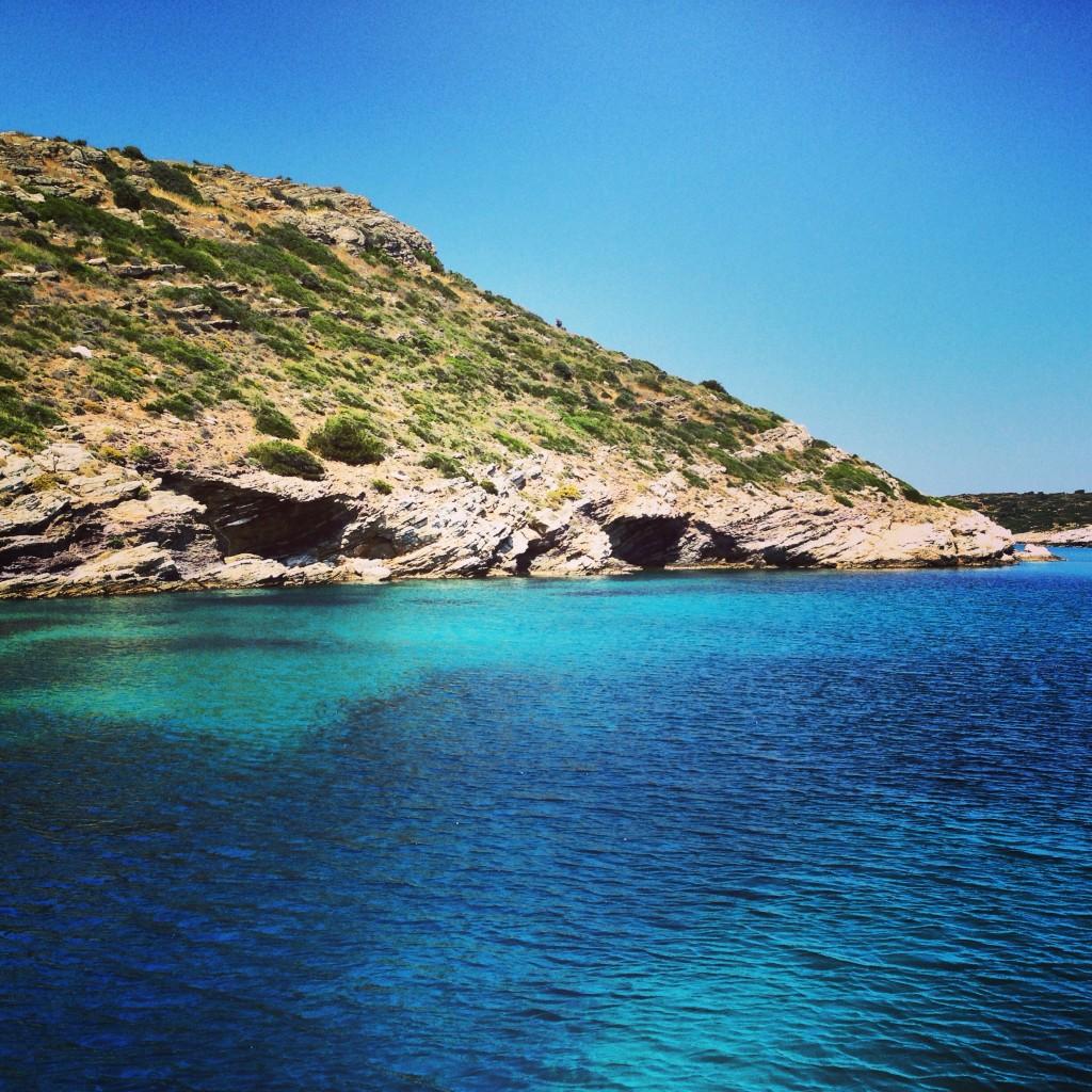 Une petite crique en Grèce