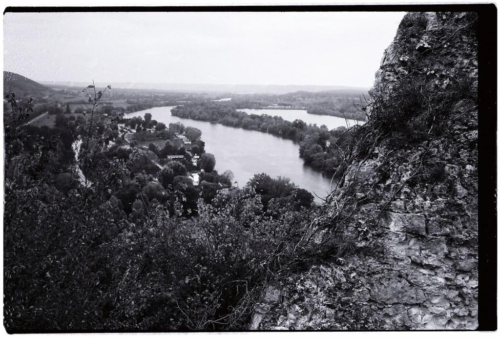 Vue sur la Seine depuis le château des Andelys