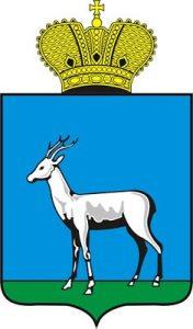 Les armoiries de la ville de Samara