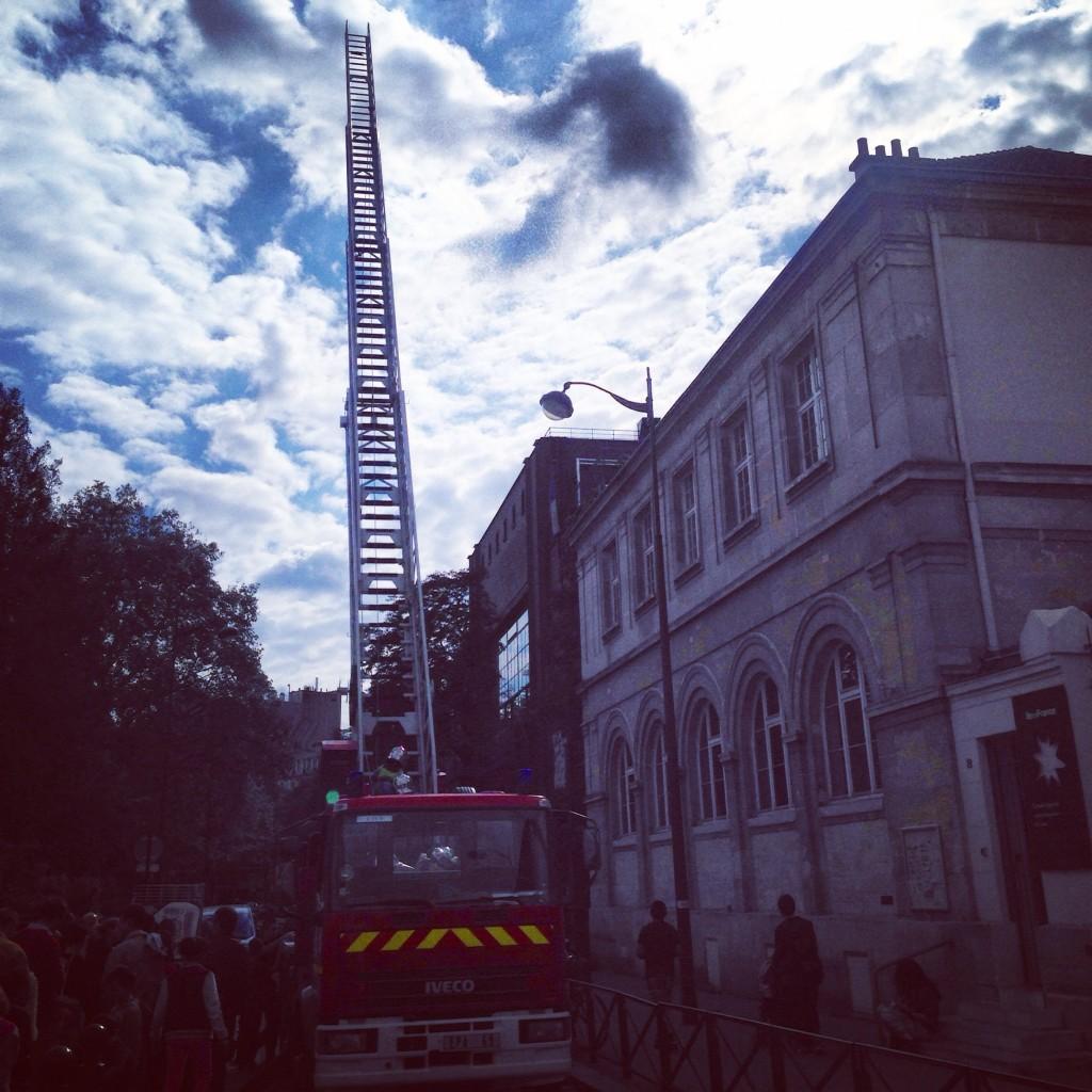 Les pompiers de Paris en démonstration