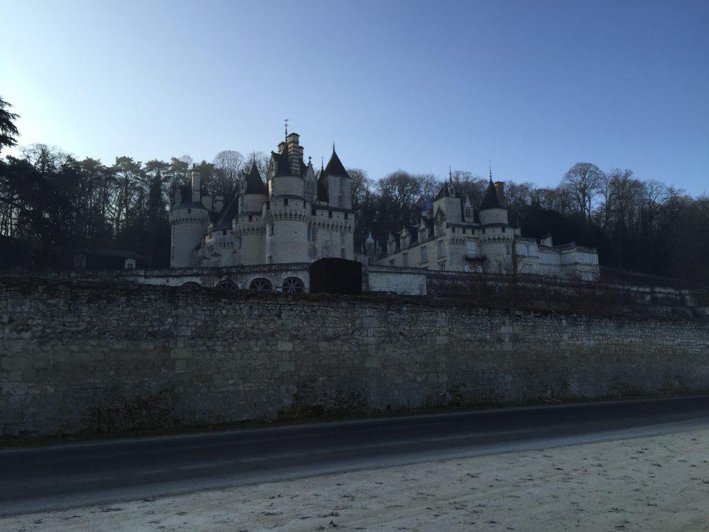 Le château d'Ussé dans le petit matin
