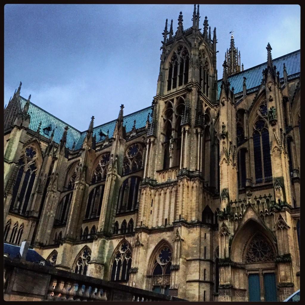 Metz, sa cathédrale est l'une des plus belles de France