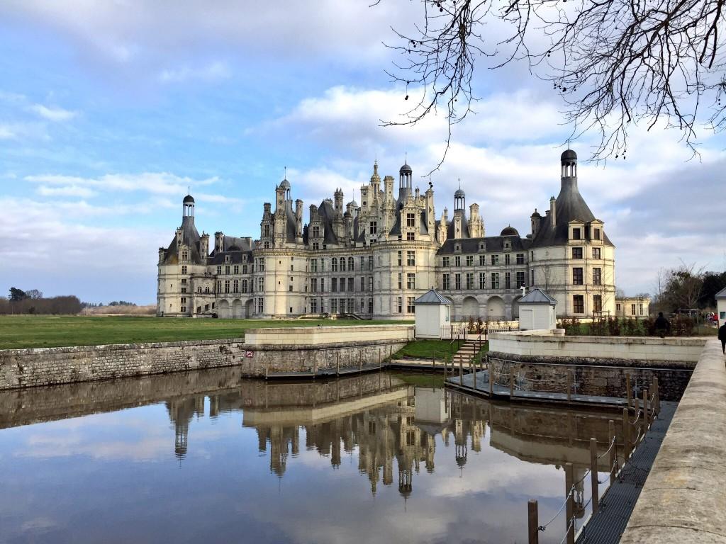 Le château de Chambord en hiver