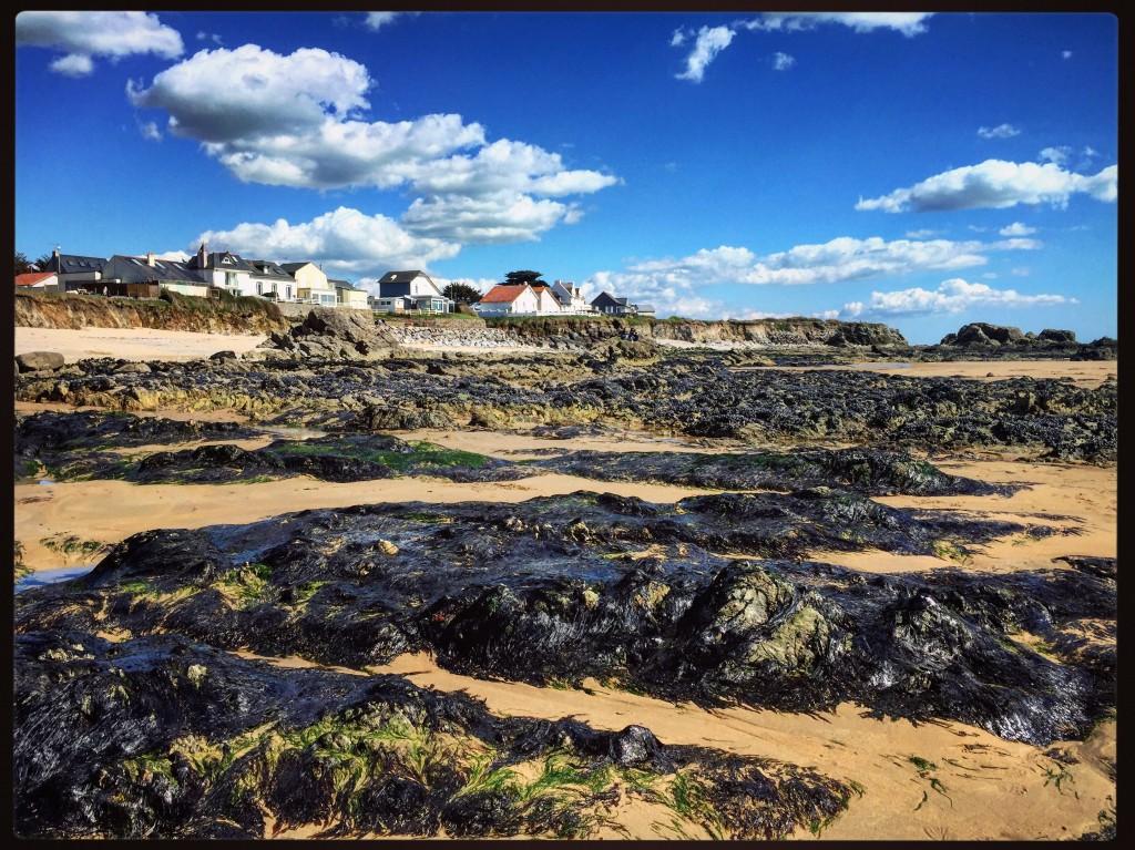 La belle plage de la govelle à marée basse