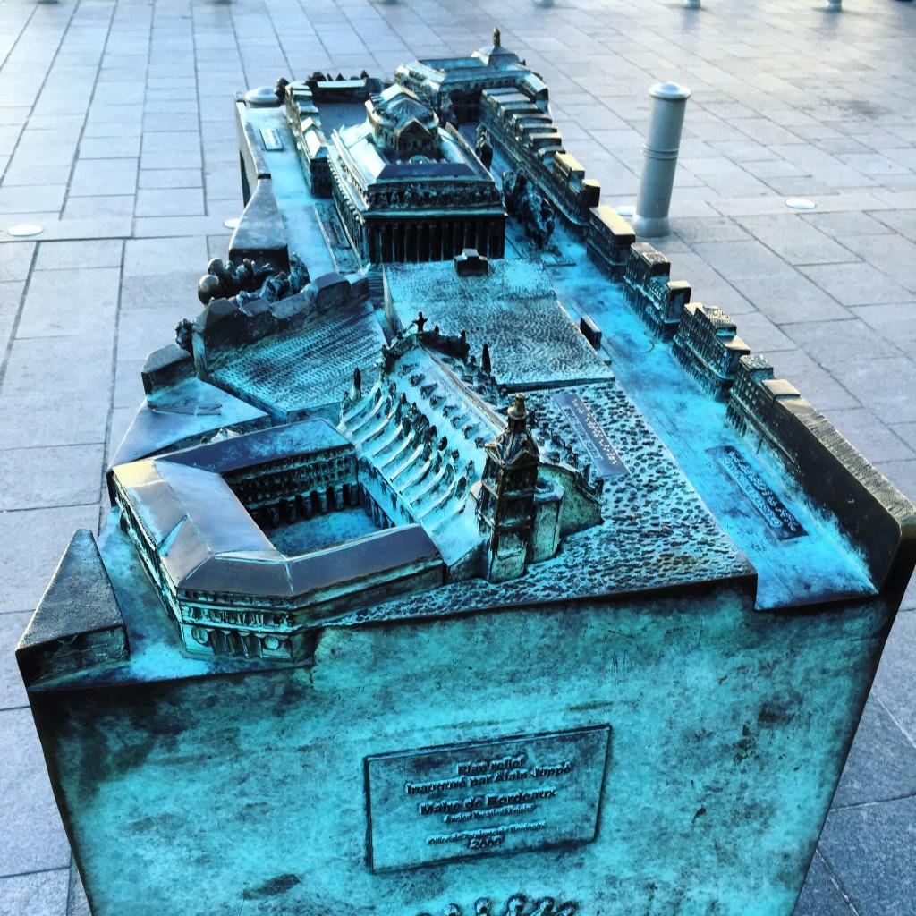 Le quartier du grand théâtre reproduit en miniature