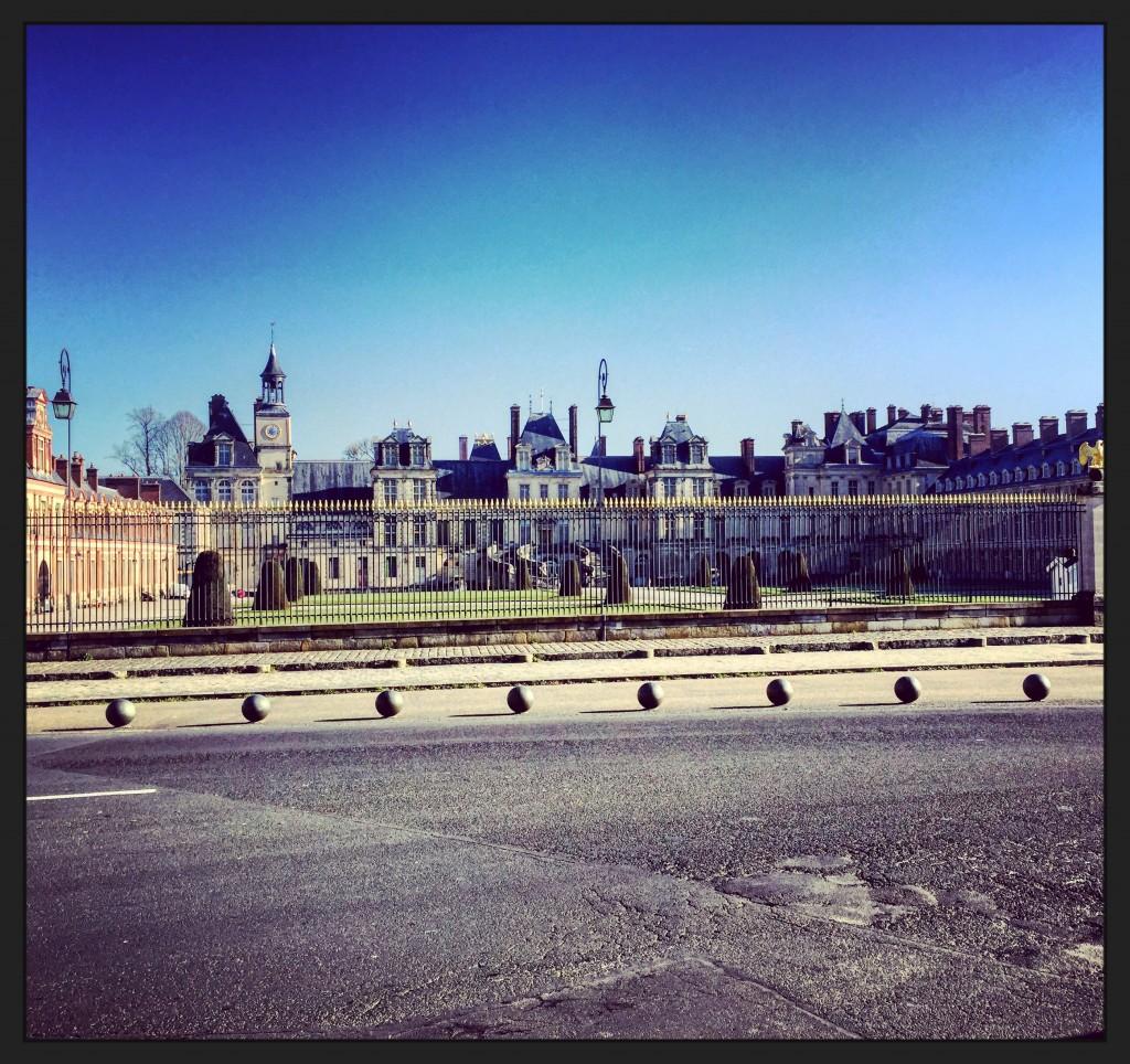 Le château de Fontainebleau en janvier