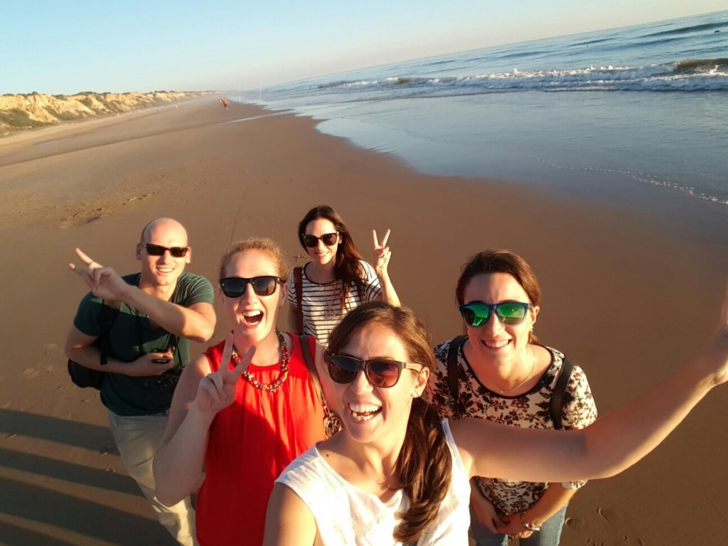 Selfie sur l'une des plus belles plages d'Espagne...
