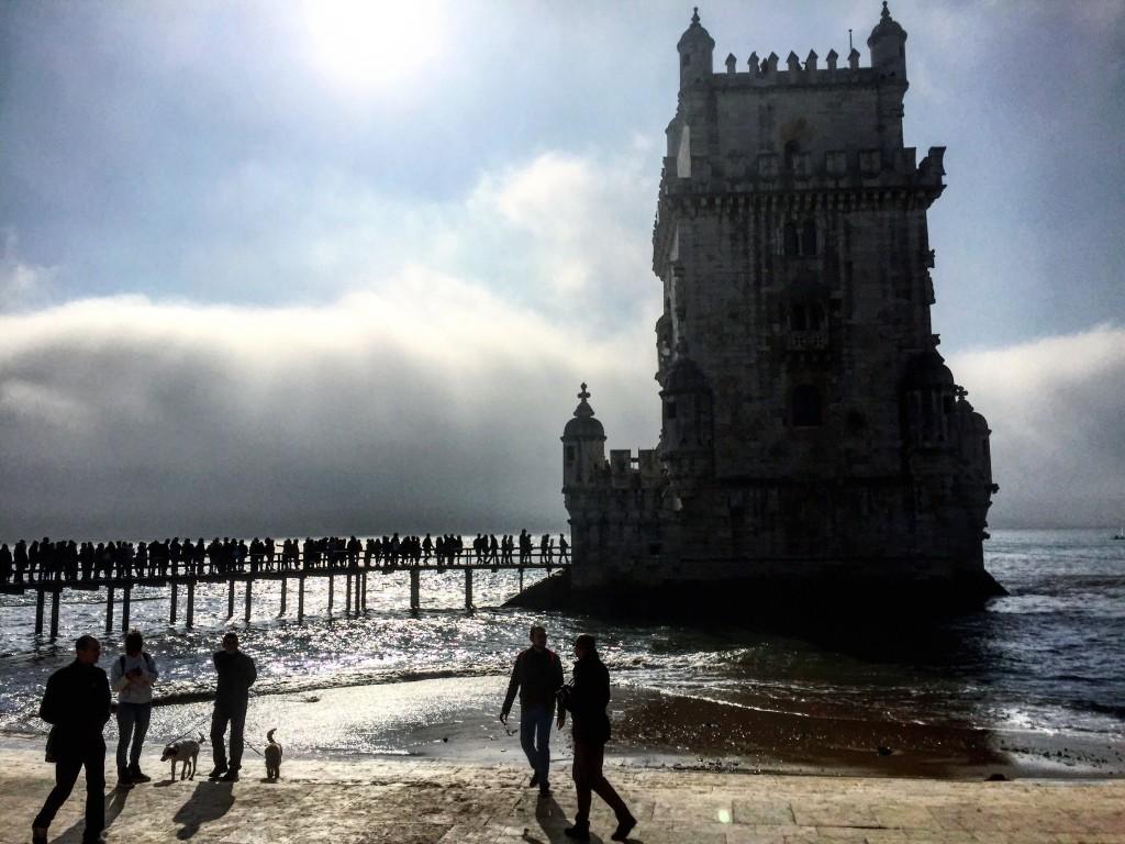 La tour de Belém à contre-jour