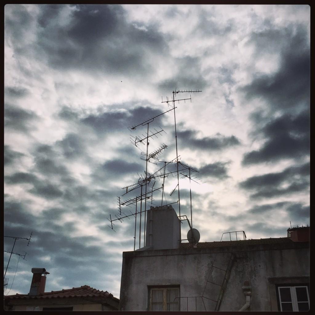Lisbonne sous les nuages