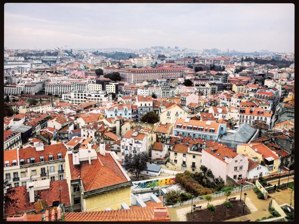 Vue aérienne sur l'une des plus belles villes portugaise