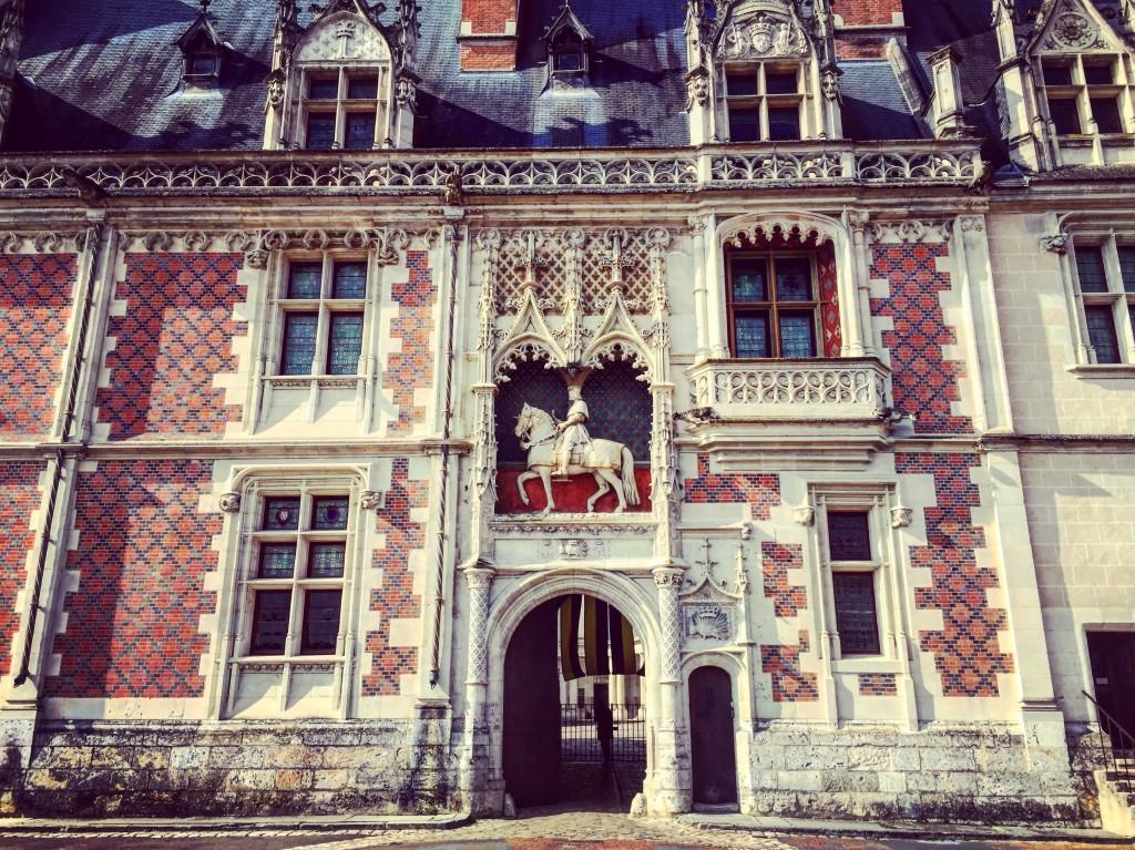 L'entrée du château de Blois