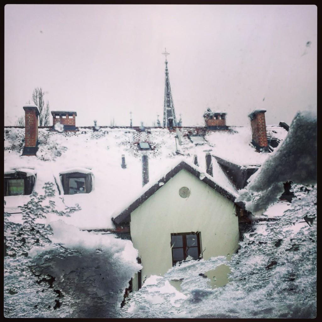 Ljubljana se réveille sous la neige
