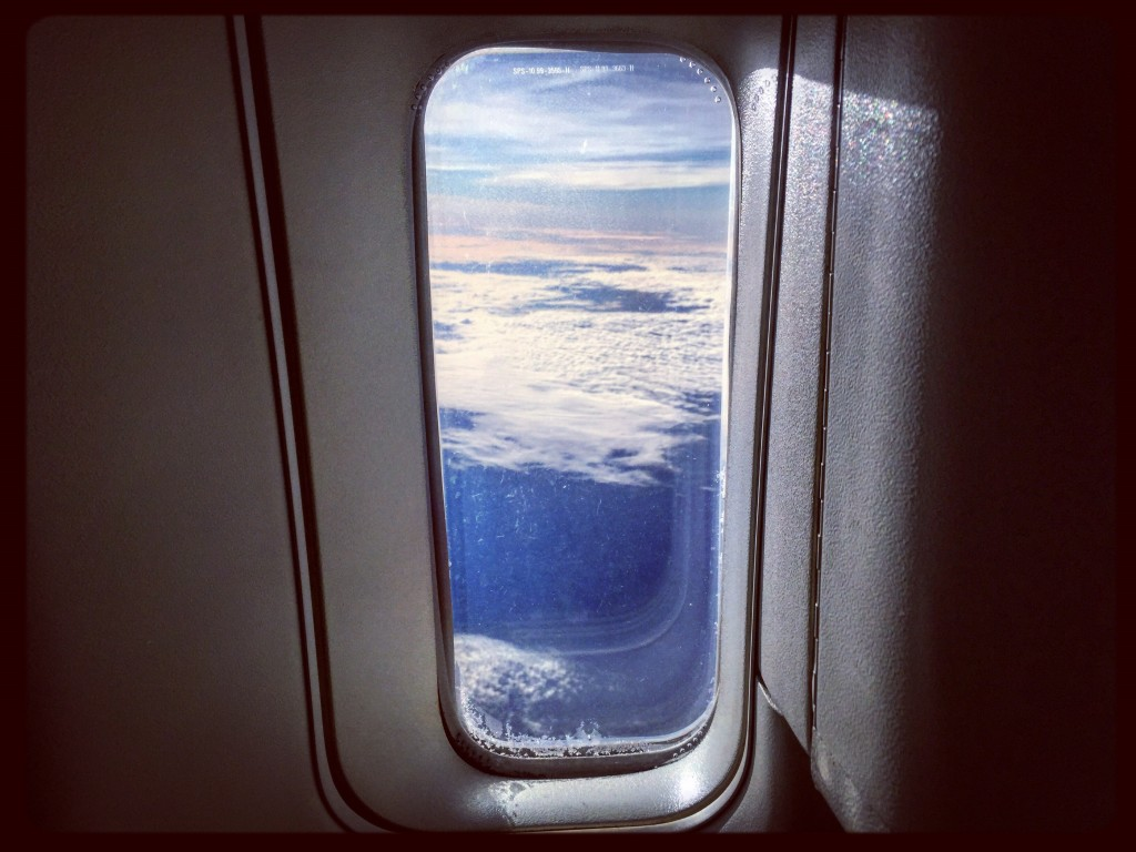 Photo prise à l'arrière d'un Boeing 777 lors d'un vol entre Paris et Buenos Aires