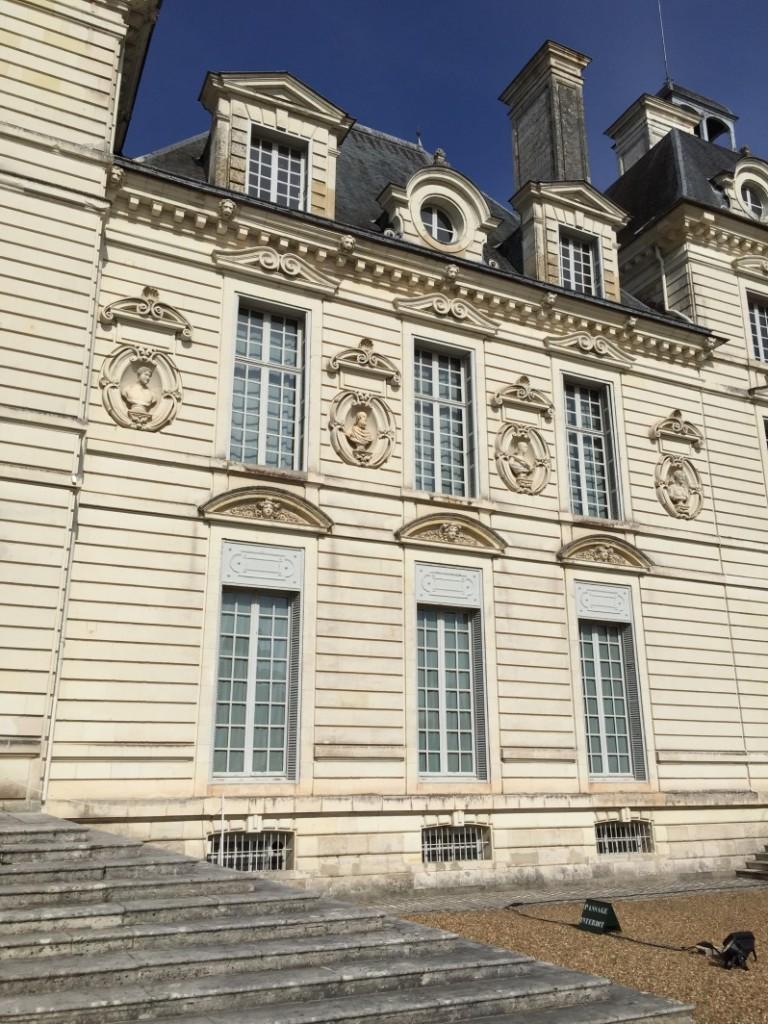 La belle façade du château