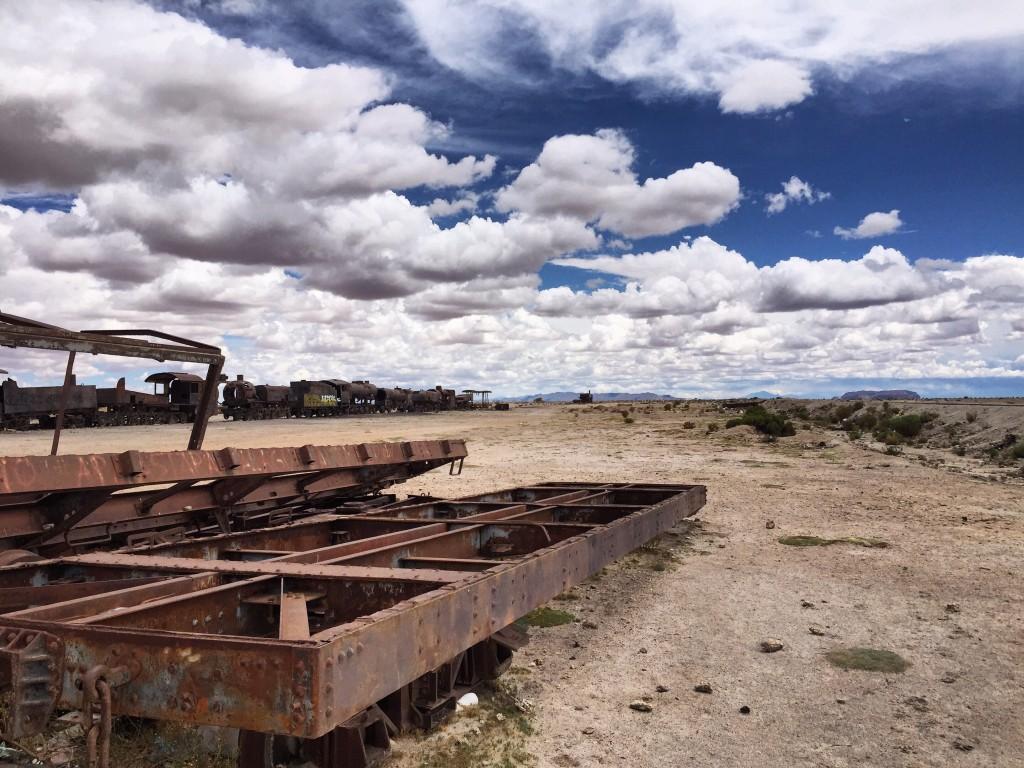 Des trains abandonnés à Uyuni