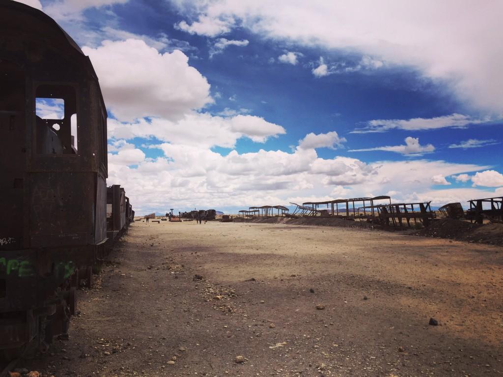 Ils ont charié les ressources de la terre, aujourd'hui ces locomotives ont été abandonnées quelques part dans le sud de la Bolivie