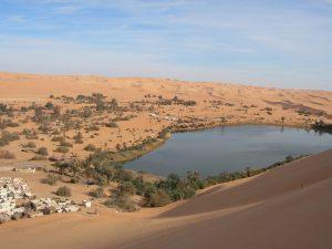 Aubari dans le sud de la Libye le 3 ème plus grands pays d'Afrique