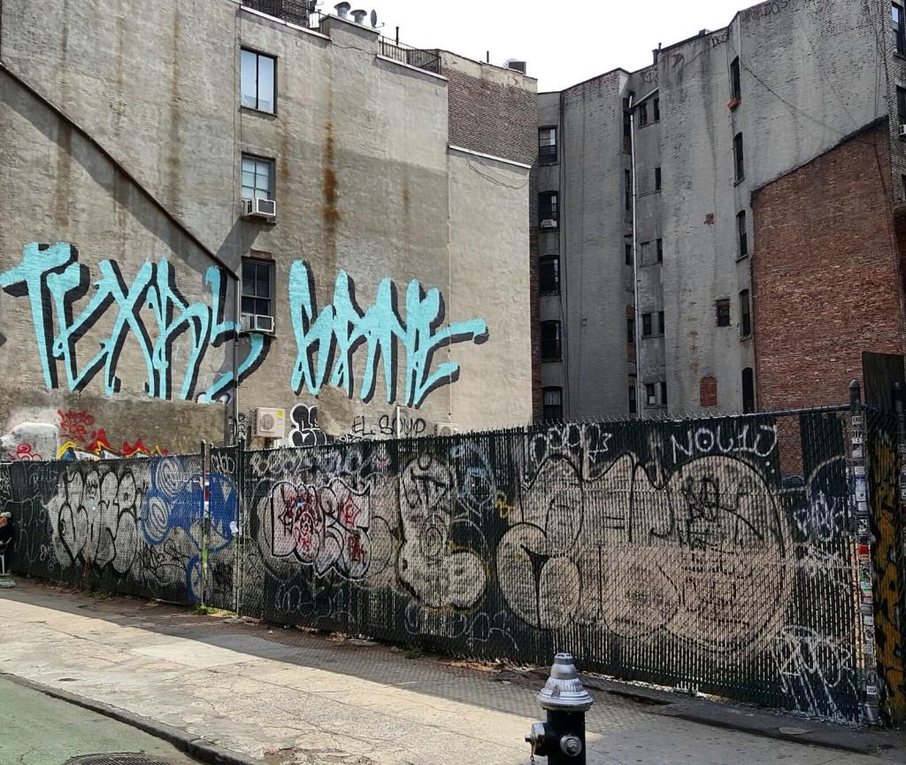 Les rues de New York taguées