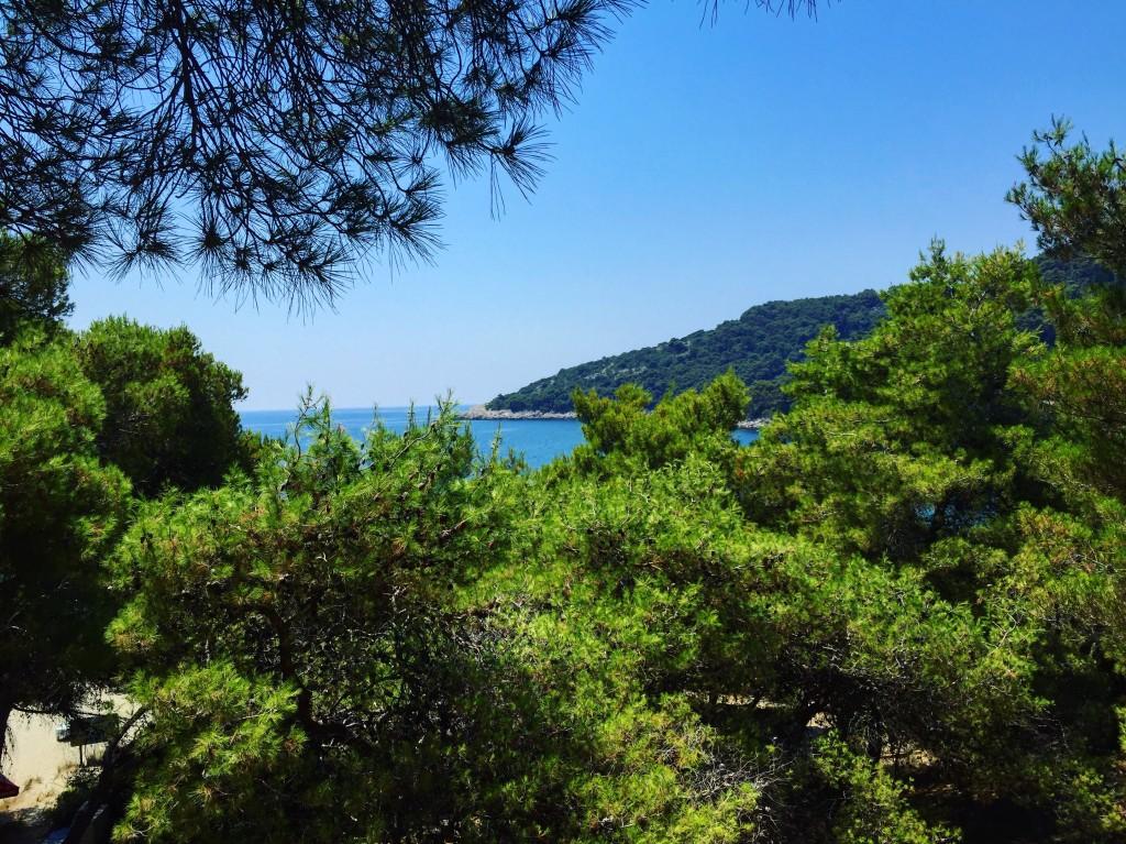 Une baie de la très belle île de Mljet en Croatie