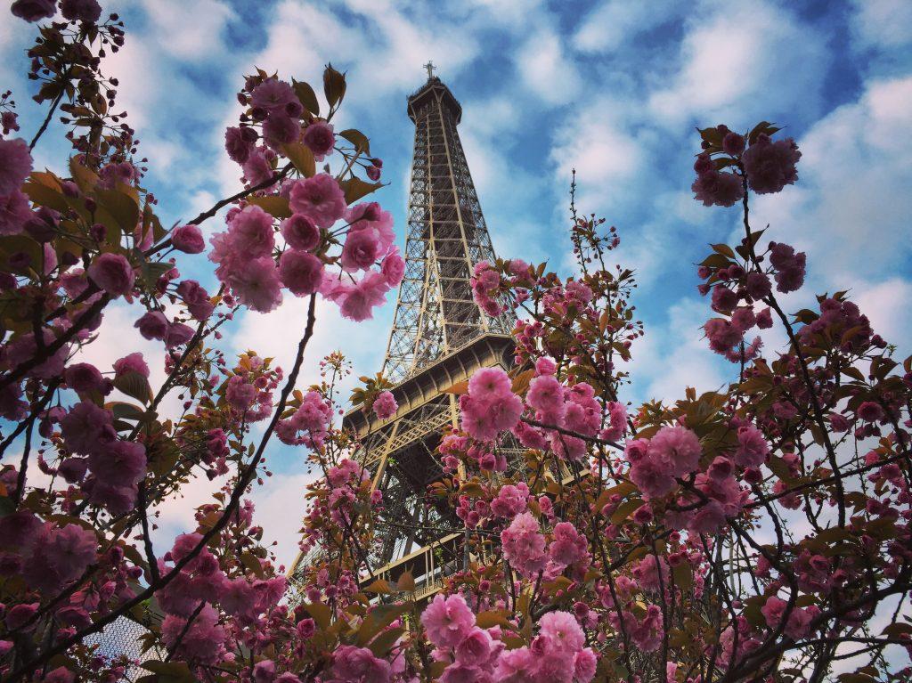 La Tour Eiffel au printemps