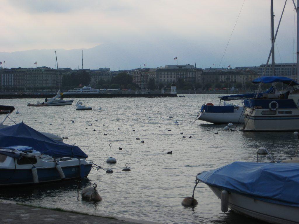 Le Lac Léman et la ville de Genève