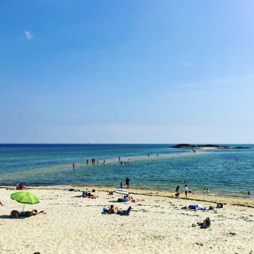 La belle plage du Men Du à Carnac