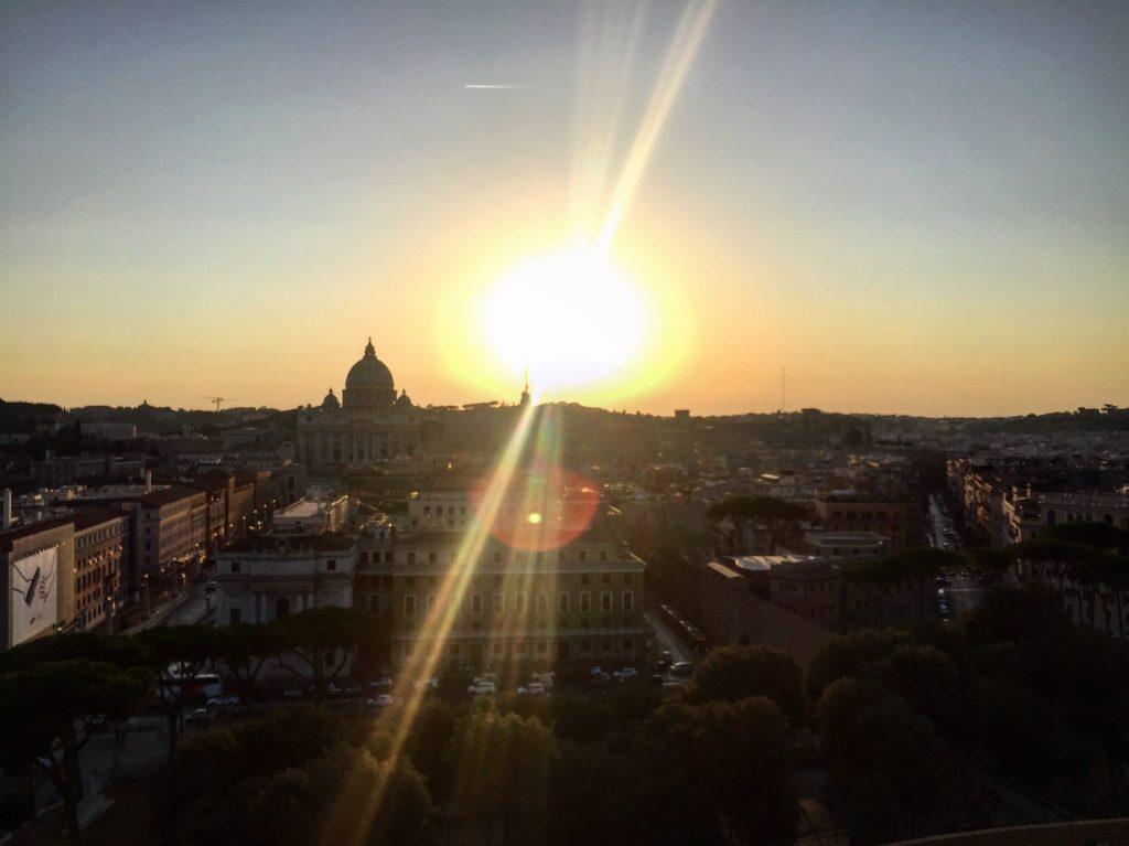 Un coucher de soleil à Rome