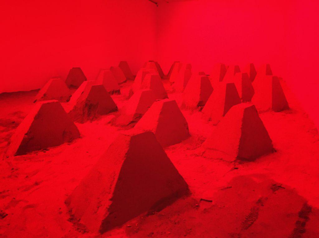 Installation artistique à l'UCCA, espace 798, Pékin