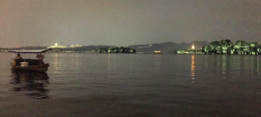 Le lac de l'ouest la nuit, Hangzhou