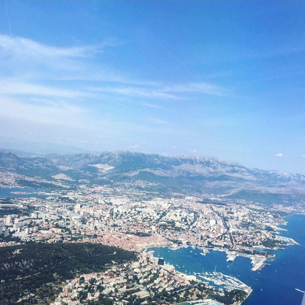 La ville de Split vue depuis le ciel