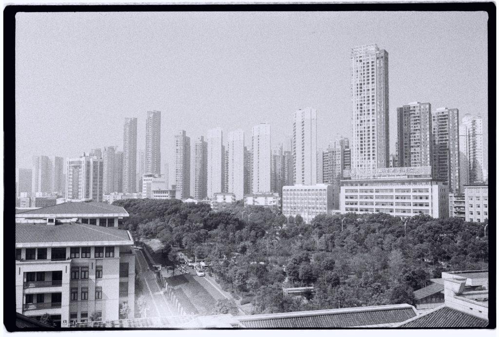 Les grattes ciel de la ville de Wuhan