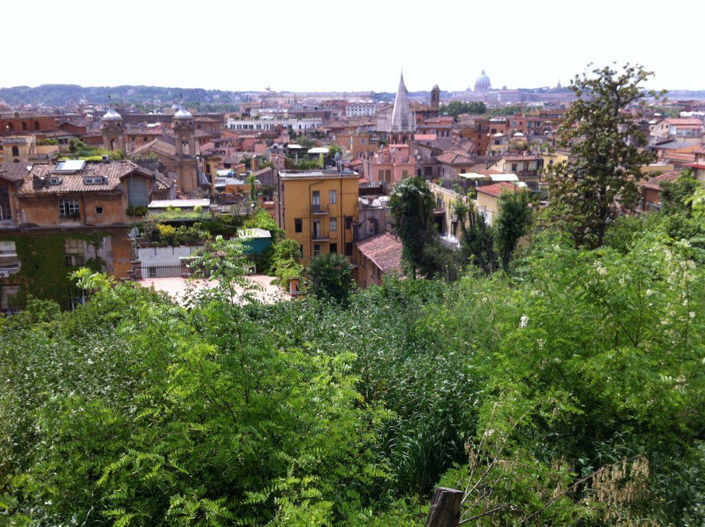 Vue sur les toits de Rome