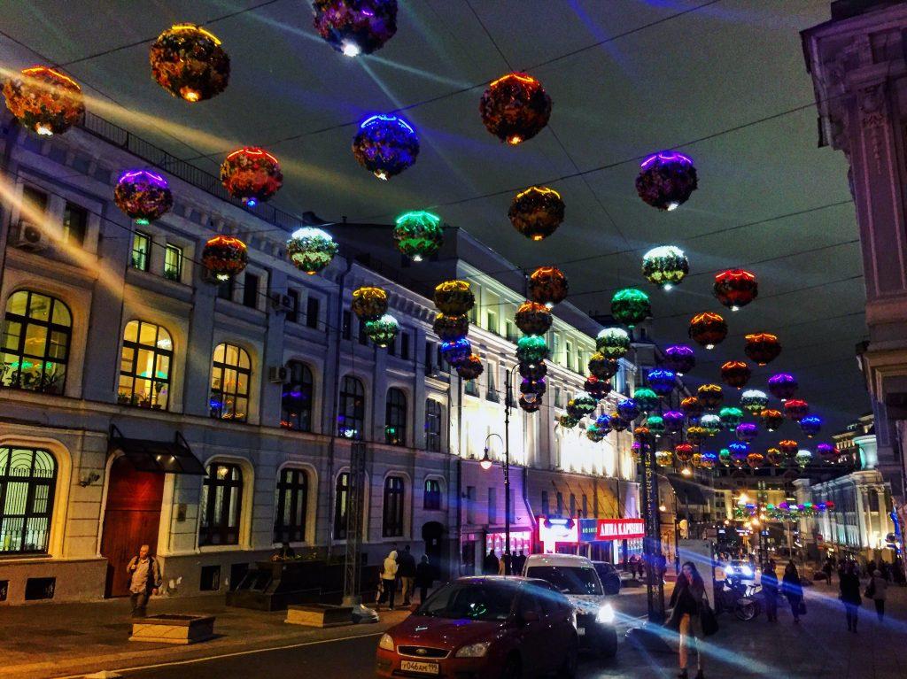 Moscou la nuit, rue Bolchaya Dimitrovka
