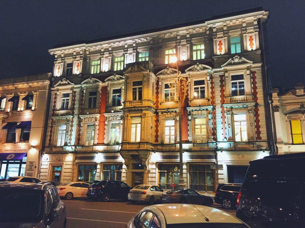 Moscou la nuit c'est aussi une rencontre avec l'architecture et l'histoire