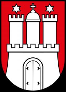 Les armoiries de la belle ville d'Hambourg