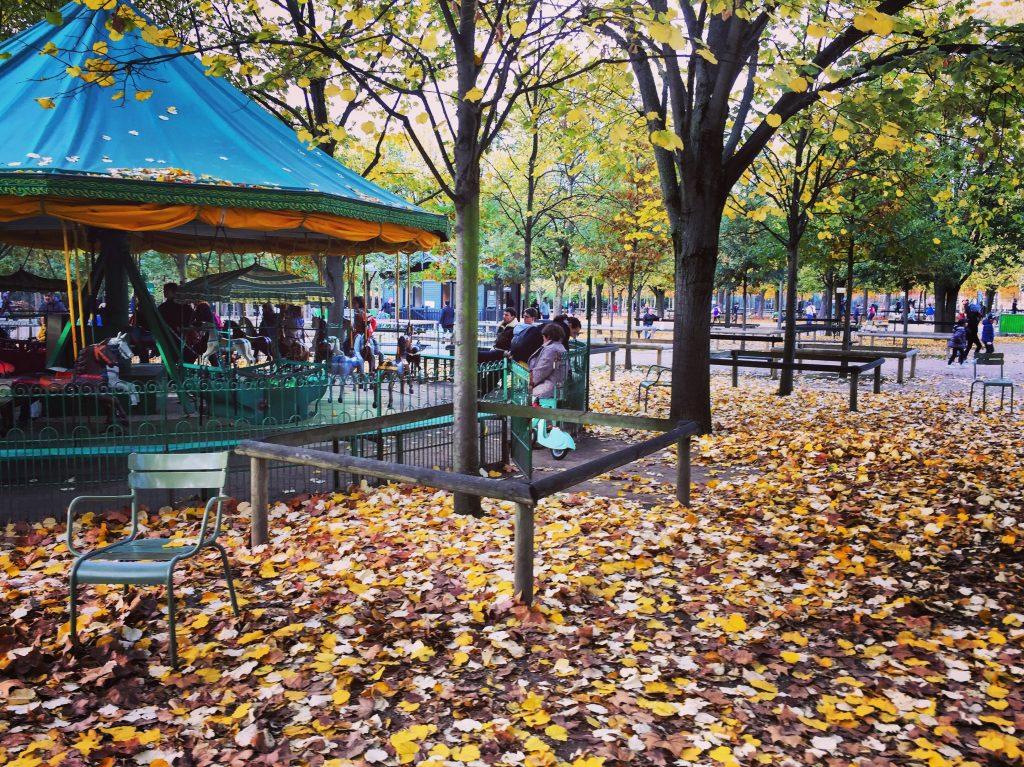 L'automne au jardin du Luxembourg, Paris