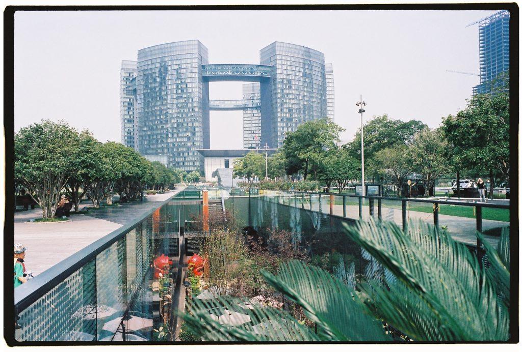 Le quartier d'affaire à Hangzhou