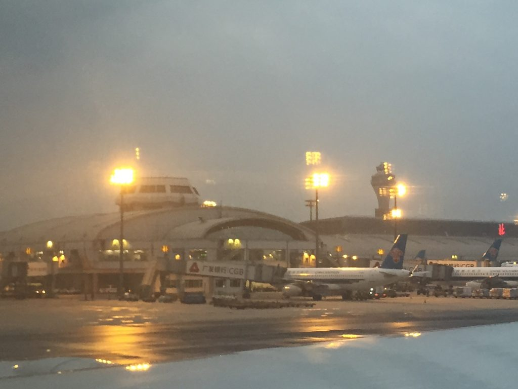 Arrivée très matinale à l'aéroport International de Pékin, l'un des plus grands aéroports du monde