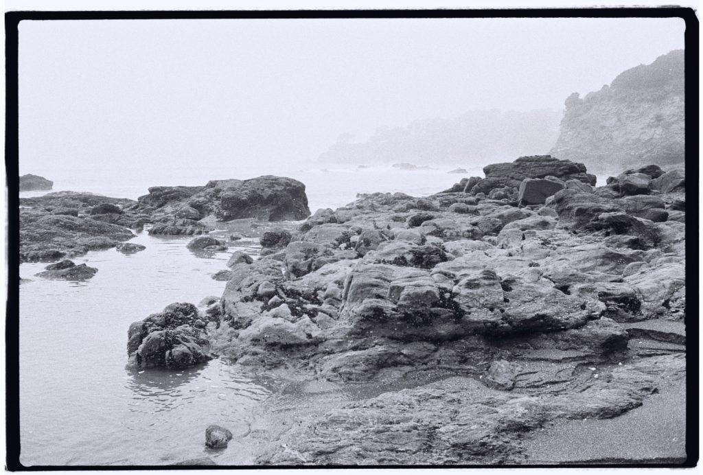 La côte à Saint-Marc sur Mer pendant l'hiver