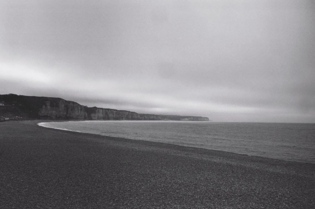 La plage de Fécamp en hiver