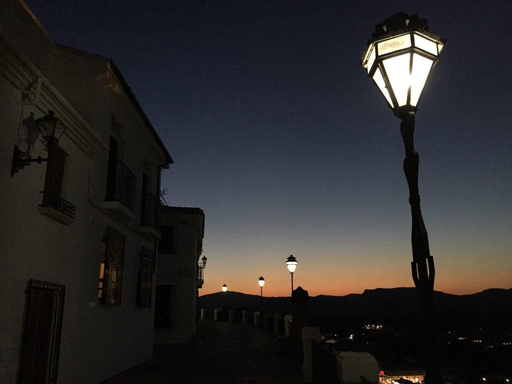 Priego de Cordoba au crépuscule