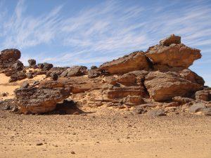 Akakus dans le sud de la Lybie