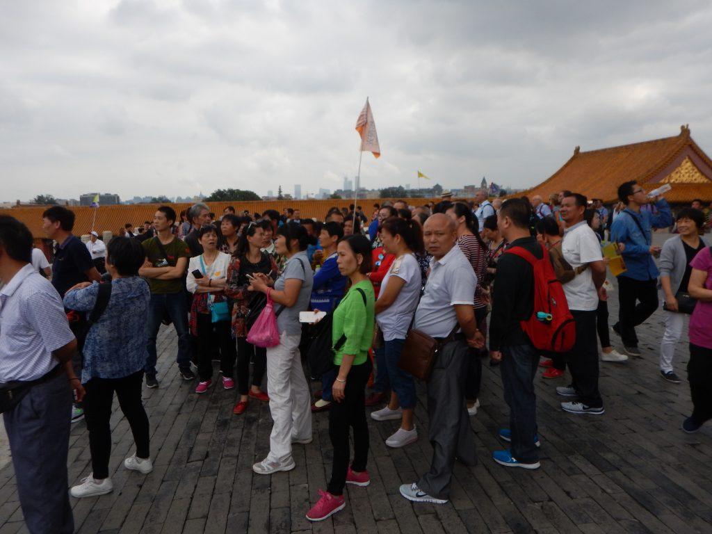 La foule et le Palais impérial de Pékin