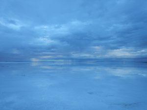 Le Salar d'Uyuni à l'aube