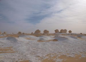 Le désert blanc en Egypte