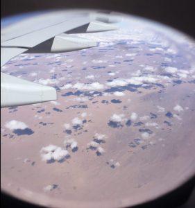 Survol du désert de Gobi