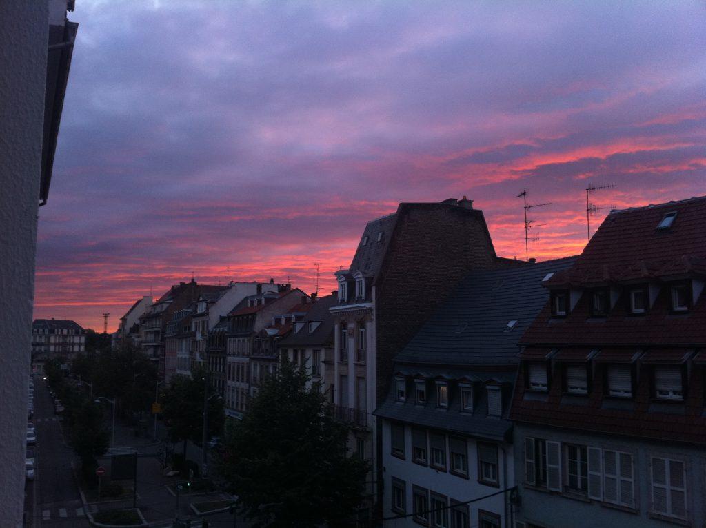 Fin de journée exceptionnelle sur la ville de Strasbourg