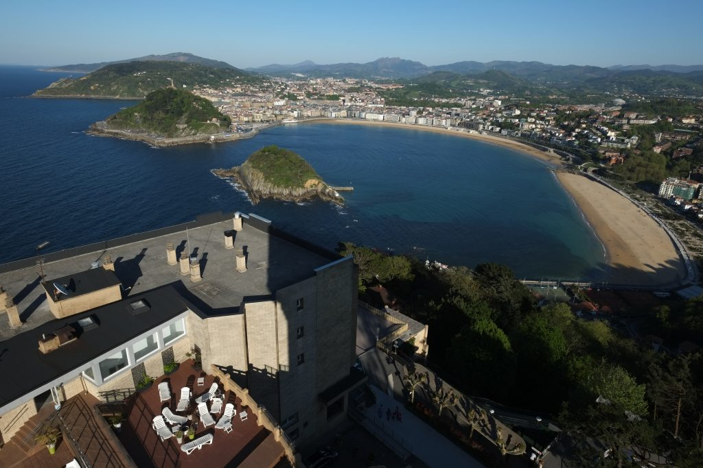 La baie de la Concha à San Sebastian de Monte Igueldo