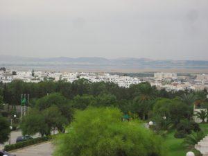 Vue sur la ville de Tunis depuis les hauteurs de la Marsa
